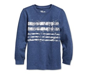 Epic Threads Long-Sleeve Graphic Shirt, Medieval Blue