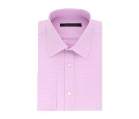 Sean John Men's Regular Fit French Cuff Dress Shirt, Bright Rose