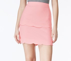 Bcx Juniors' Scalloped Skirt, Rose