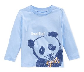 First Impression Long Sleeve Tee, Blue