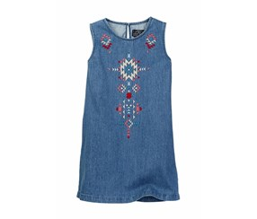 Lucky Brand Girls Embroidered Dress, Lucy Wash