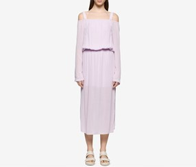 Calvin Klein Jeans Cold-Shoulder Midi Dress, Opal Pink