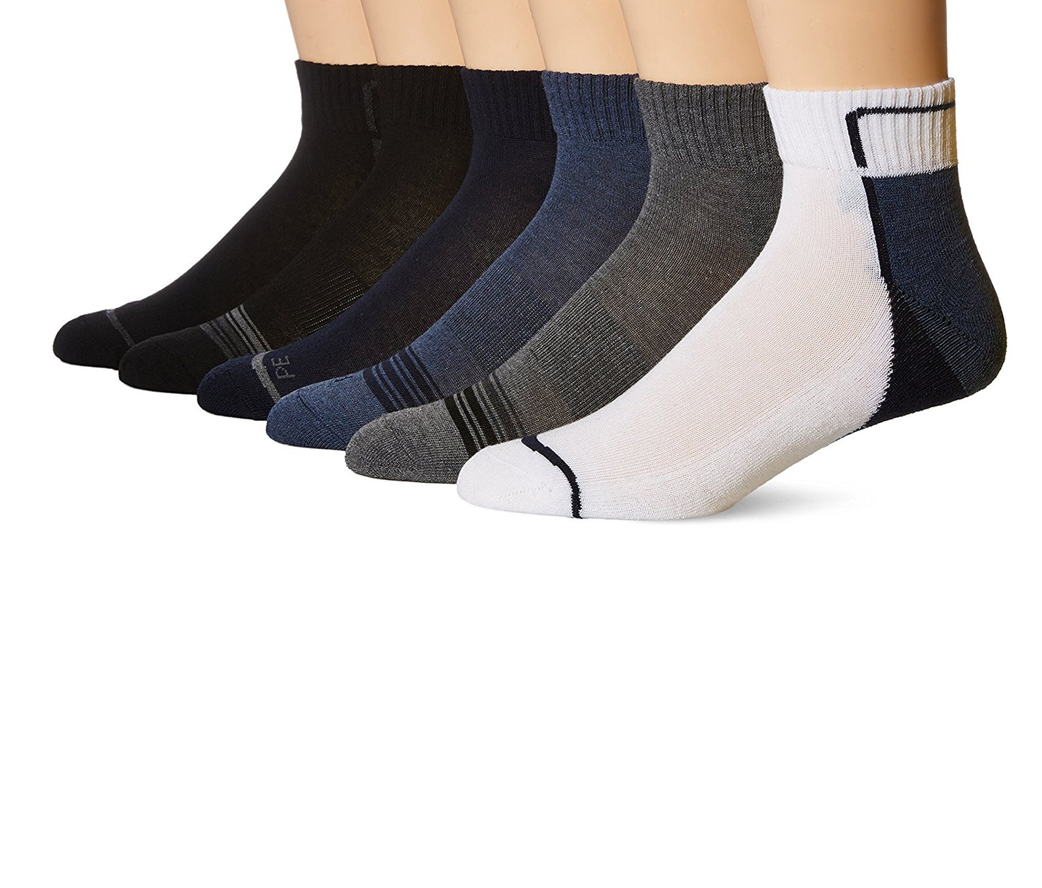 d88893f1fe 4 436260-944.jpg. More Details. The Perry Ellis portfolio speed dry  performance 6 pack quarter socks are ...