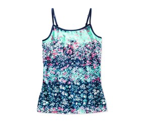 Epic Threads  Big Girls Floral-Print Camisole, Medieval Blue