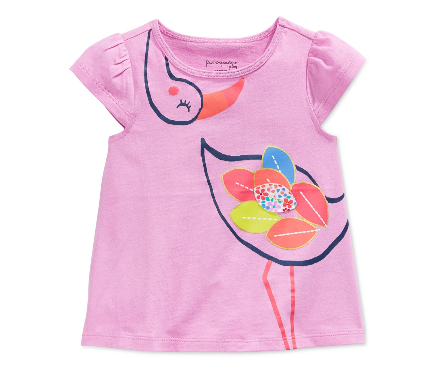1b680edae Shop First Impression First Impressions Baby Girls' Flamingo T-Shirt ...