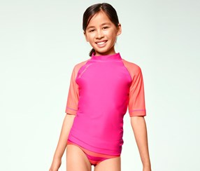 Girl's UV-protection Shirt, pink