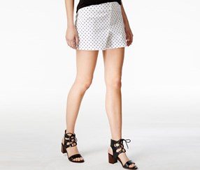 Maison Jules Polka-Dot Shorts, Bright White Combo