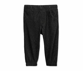 First Impressions Baby Boys Denim Jogger Pants, Deep Black
