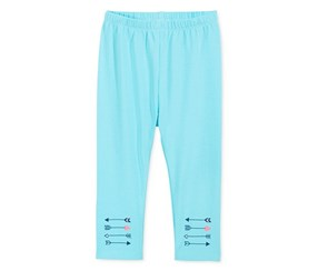 First Impressions Arrows-Border Leggings,  Light Pool Blue