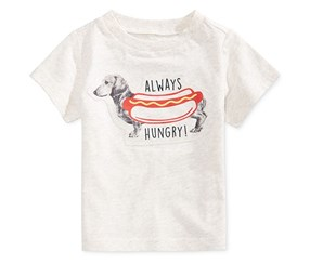 First Impressions Baby Boys Cotton Graphic-Print T-Shirt, Heather Dune