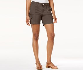 Style & Co Petite Zig-Zag Cargo Shorts, Brown Clay