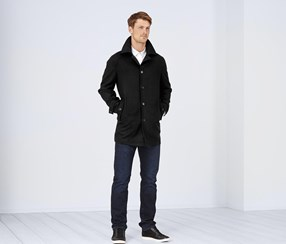 Men's Wool Jacket, Black