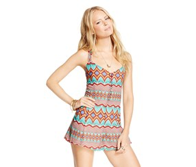 American Rag Juniors' Printed Button-Front Romper