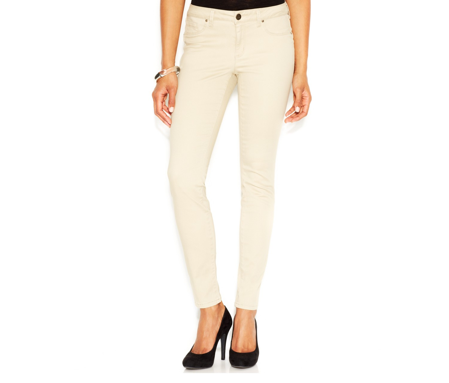 6341868251740 Shop Jessica Simpson Jessica Simpson Kiss Me Sateen Jeggings Pale ...