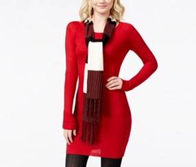 Energie Juniors Sweater Tunic Dress a Jester, Red