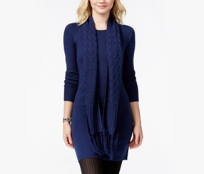 Energie Juniors' Sweater Tunic Dress and Scarf