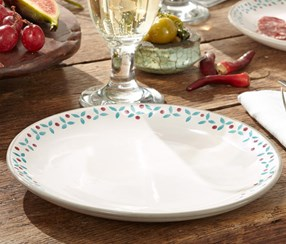 Plate, Set of 2, Small Border