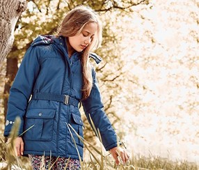 Girl's Thermo Jacket, Blue