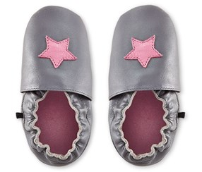 Girl's First Step Shoe, Gray/Pink