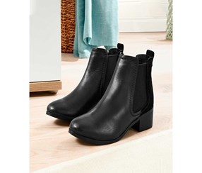 Women's Ankle Boots, Leather, Black
