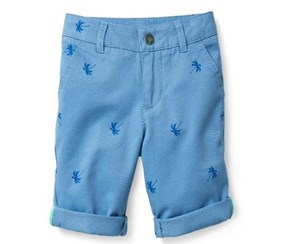 Boys Kids, Bermuda, Chino, allover, Blue