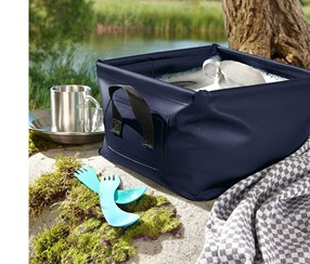 Foldable basin, Dark blue