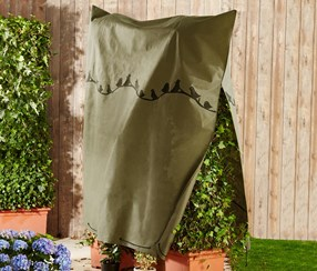Plant protection fleece hood XL, Olive Green