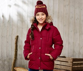 Girls Thermal Jacket, Bordeaux