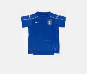 Puma Kids FIGC Home Shirt Replica Shirt, Powder Blue