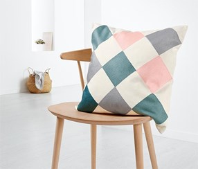 Decorative Cushion Cover, White/Pink/Grey/Mint
