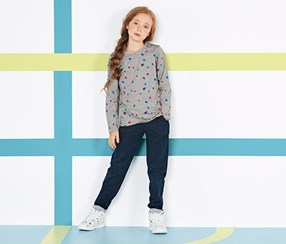 Girls Kids,  Leisure Trousers, Dark blue
