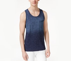 Inc Men's Ombre Tie-Dye Tank Top, Indigo