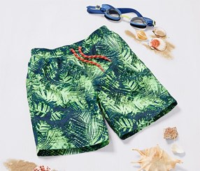 Boys Boardshorts, Green/Blue