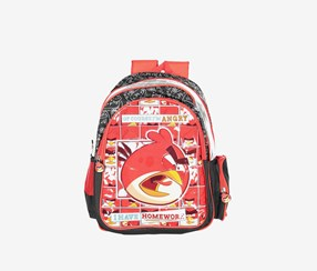 New Boy Angry Birds BackPack, Red/Black