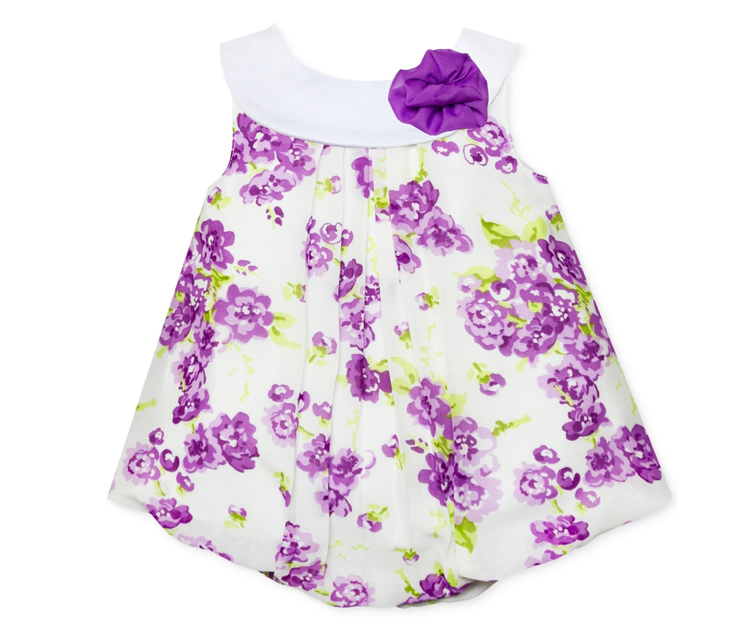 0f9ce6e95 ... Baby Essentials Floral-Print Bubble Romper, Purple. 4/80350.jpg