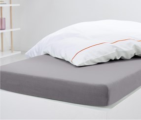 Jersey Fitted Sheet 160 x 200 cm, Grey
