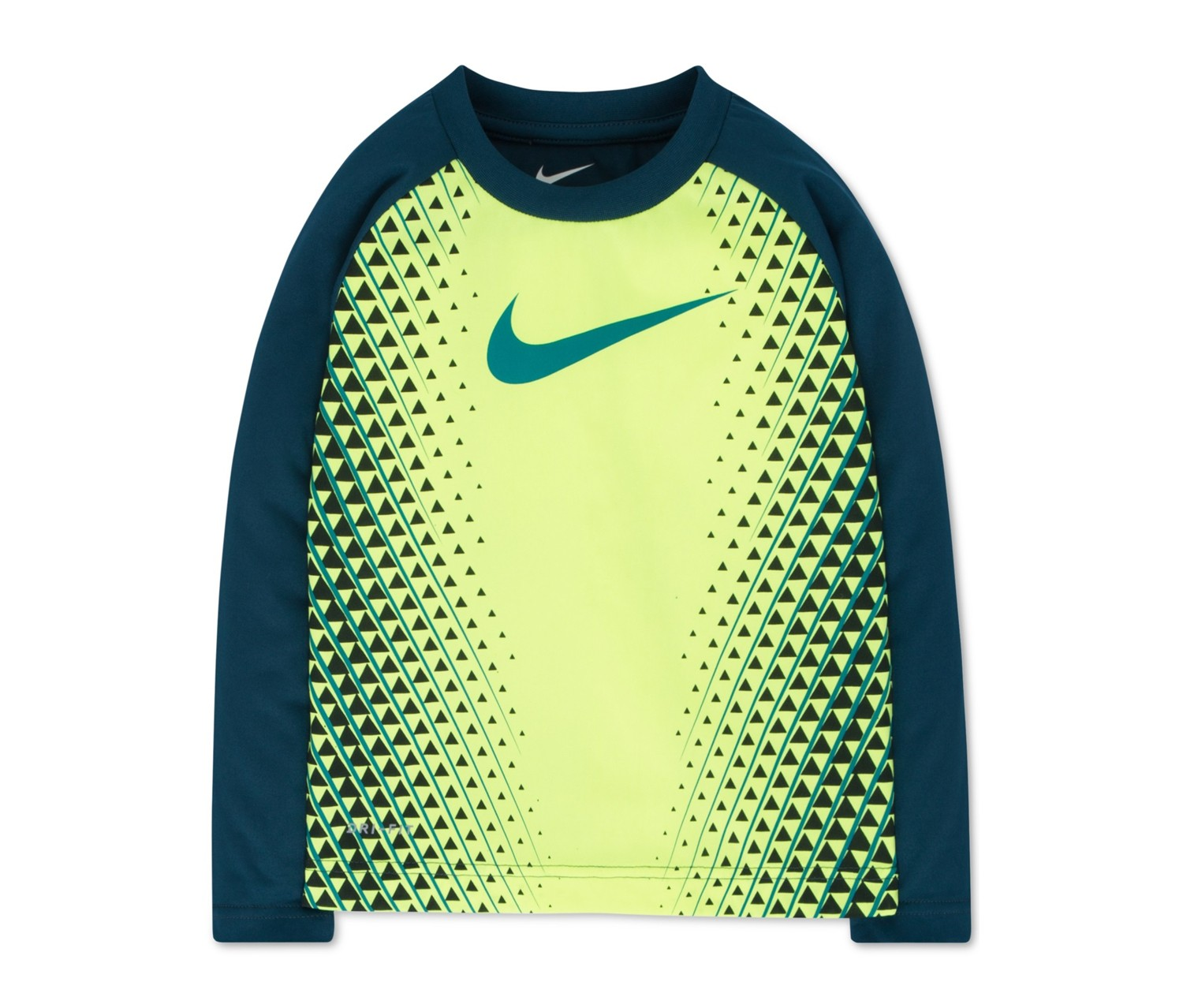 8fbb592fd Shop Nike Nike Little Boys Alpine Drifit Graphic-Print T-Shirt, Volt ...