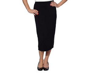 Matty M Ladies' Midi Skirt, Black