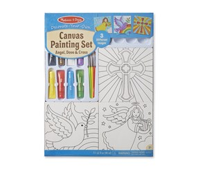 Melissa & Doug Canvas Religious Painting Set, White