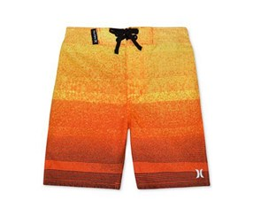 Hurley Zion Cotton Boardshorts, Varsity Red/Orange