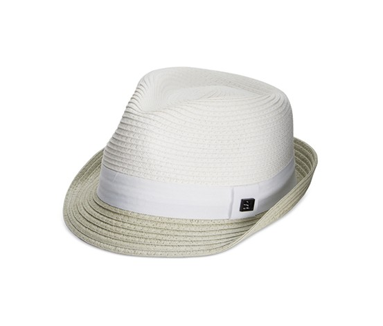 2743d27f Shop Sean John Sean John Men's Braided Straw Core Fedora, White for ...