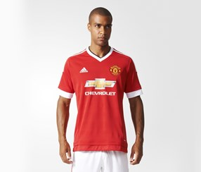 Adidas Manchester United FC Home Replica Jersey, Real Red