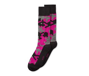 Alfani Mens Cubist Grid Socks, Boldberry