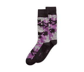 Alfani Mens Abstract Hex Socks, Purple
