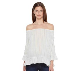 Sanctuary Julia Off-The-Shoulder Top, Loom Stripe