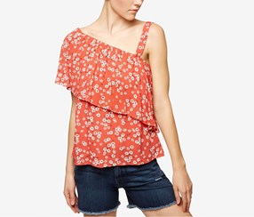 Sanctuary Felicity Printed One-Shoulder Tops, Tigerlily
