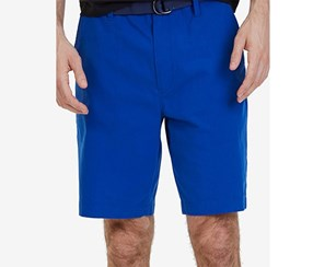 Nautica Mens Classic-Fit Stretch Short, Bright Cobalt