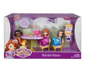 Disney Sofia the First Sofia, Ruby and Jade Tea Party Playset, Purple