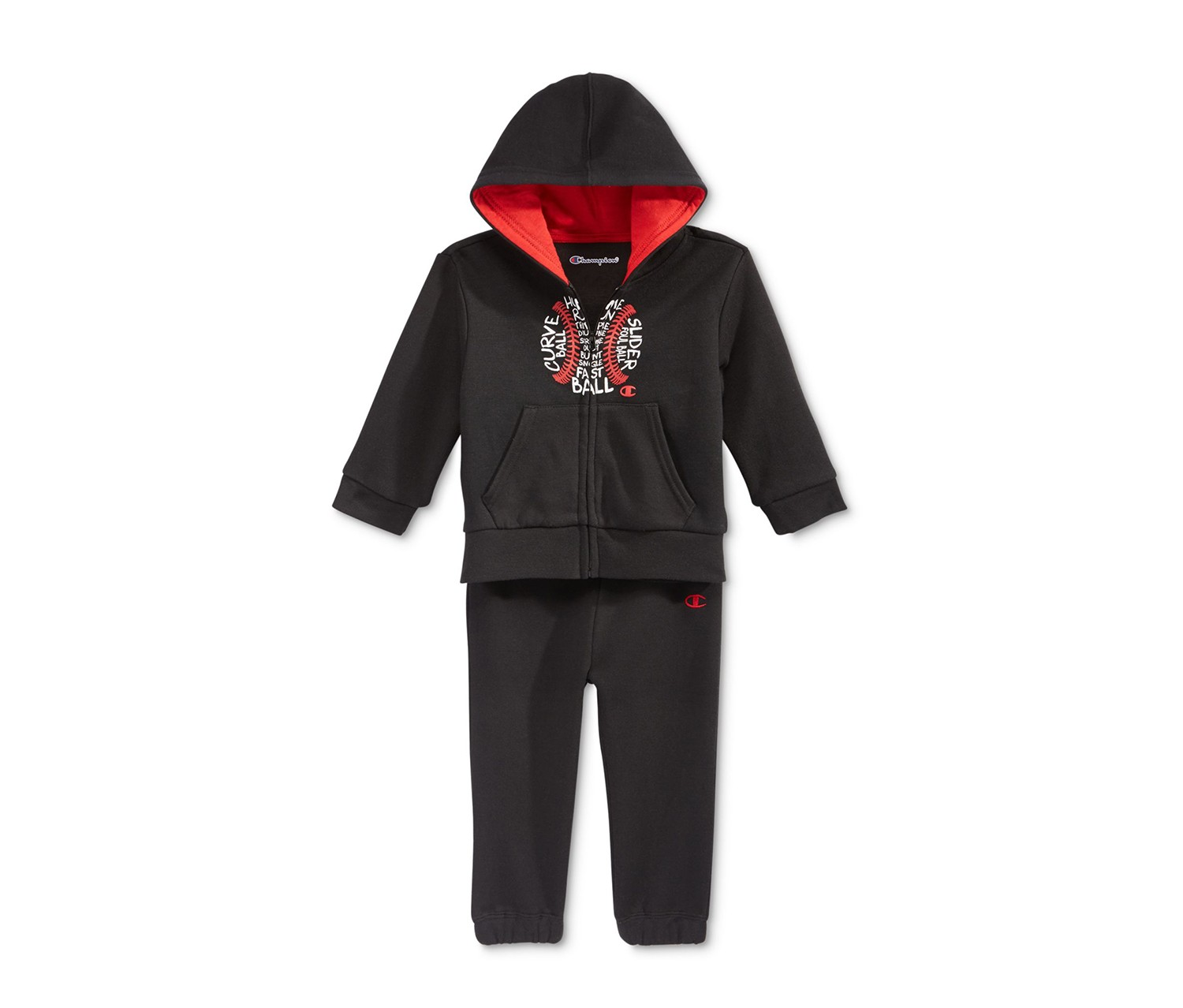 cb4b4bcc1671 Shop CHAMPION Champion Baby Boys  2-Pc. Baseball Zip-Up Hoodie ...