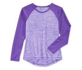 Champion Little Girls Space-Dyed Top, Electric Purple